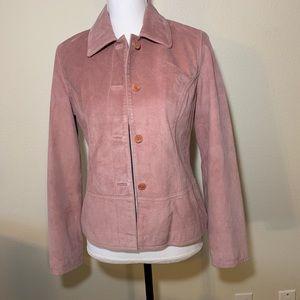 50% OFF SALE Vintage Harolds pink suede jacket